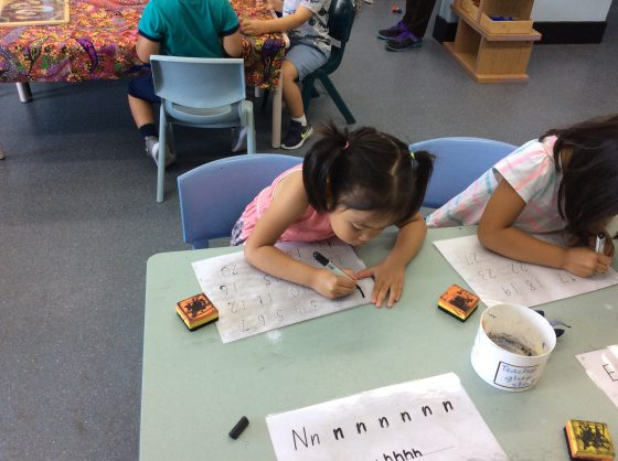 Preschoolers Learning to Write