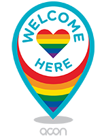 ACON LGBTQI Welcome Sign